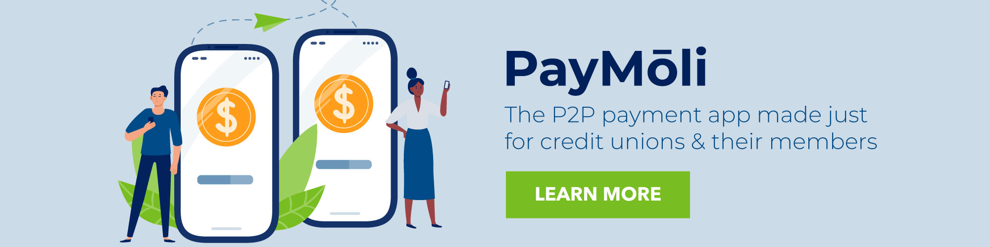 PayMoli - The P2P payment app made just for credit unions and their members